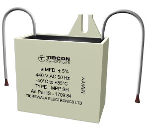Box Type Capacitors for Fans - Gray Box